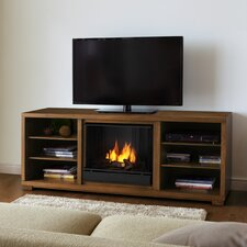 "Marco 69"" TV Stand with Gel Fuel Fireplace"