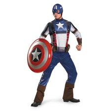 Captain America Movie Adult Deluxe Costume