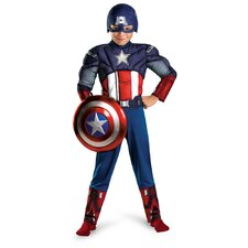 Captain America Avengers Muscle Light Up Costume