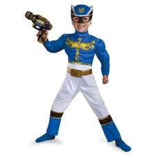 Power Rangers Megaforce Blue Ranger Muscle Toddler Costume