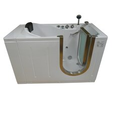 "59"" x 30"" Walk-In Tub with Heated Water Jets"