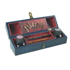 Windsor Travel Writing Set in Distressed Navy Blue