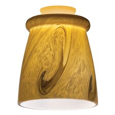 Mini Pendant with Glass Top Rib Shade in Caramel Mocha Swirl