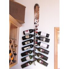 Snow 13 Bottle Wall Mounted Wine Rack