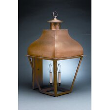 Stanfield Medium Base Socket with Chimney Curved Top Wall Lantern