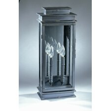 Empire 2 Candelabra Sockets Plain Mirror Wall Lantern