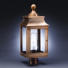 "Concord 1 Light 24"" Chimney Pagoda Post Lantern"