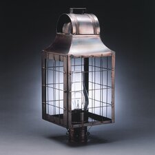 Livery 1 Light Chimney Culvert Top H-Rod Post Lantern