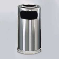 Metallic Designer 12 Gal. Sand Top Ash/Trash Receptacle