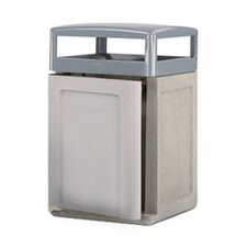 Keystone Concrete Weather Urn and Trash Receptacle with Side Door