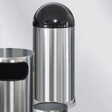 Metallic Designer 15 Gal. Round Top Waste Receptacle