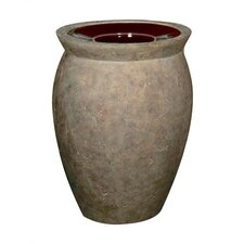 Milan 37 Gallon Rounded Receptacle with Urn