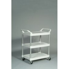 3-Shelf Service Cart in Off-White