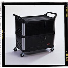 Xtra Equipment Cart with 3 Shelves in Black