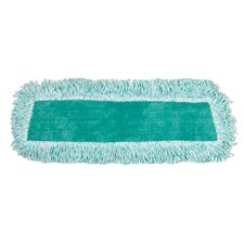 Dust Microfiber Mop Heads with Fringe Cut-End in Green