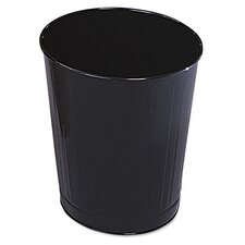 Fire-Safe Steel Wastebasket in Black