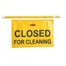 "Hanging Safety Sign with ""Closed for Cleaning"" Logo"