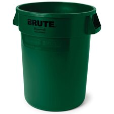 Round Brute Container in Dark Green