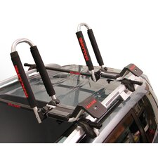 Downloader Folding J-Style Universal Car Rack Kayak Carrier with Bow and Stern Lines