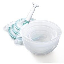 Vac 'n Store 3 Piece Bowl Set in Teal