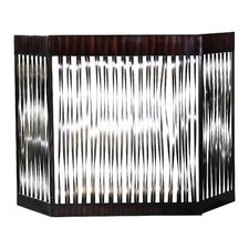 Zigzag 3 Panel Iron Fireplace Screen