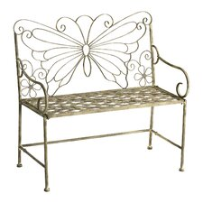 Butterfly Iron Garden Bench