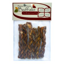 "6"" Buffalo Stix Braided Dog Treat (6-Pack)"