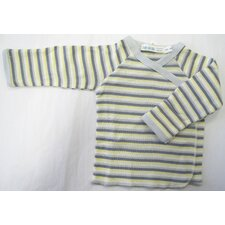 Twenty-Four Seven Long Sleeve Side Snap Shirt in Boy Stripes