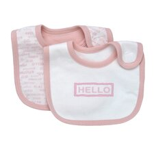Hello Goodbye Print Bib (Set of 2)