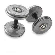 Gray Pro Style Dumbbell with Urethane Snug Grip Handles (Set of 2)