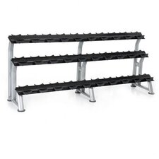 3-Tier Fixed Pro Style Dumbbell Saddle Rack 15 Pairs