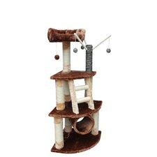 "53"" Athens Cat Tree in Brown and Beige"