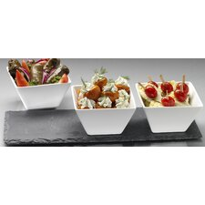 Slate 4 Piece Bowl Set