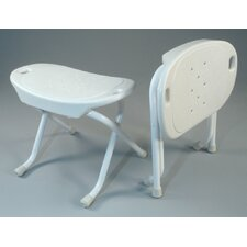 Foldable Bath Bench in White