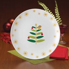 "Holiday Hoot 14.25"" Round Platter"