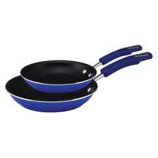 Hard Enamel Cookware 2-Piece Non-Stick Skillet Set