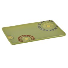"Circles and Dots 8.25"" Rectangular Platter"