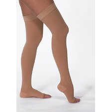 USA 20-30 mmHg Open Toe Mid-Thigh Stocking with Silicone Top