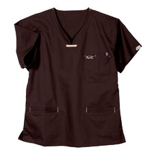 5600 3-Pocket MedFlex II Top in Wine