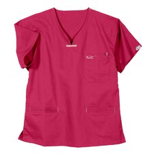 5600 3-Pocket MedFlex II Top in Power Pink