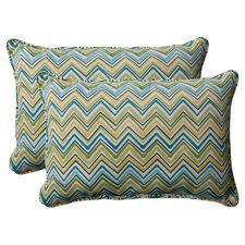 Cosmo Chevron Corded Throw Pillow (Set of 2)