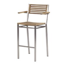 "Equinox 28.5"" Outdoor Bar Stool With Arms"