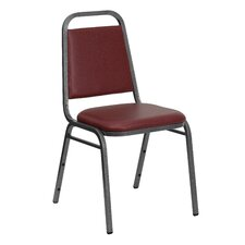 Hercules Series Trapezoidal Back Stacking Banquet Chair with Silver Vein Frame