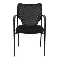 Hercules Series Designer Mesh Fabric Stacking Arm Chair with Padded Foam Seat