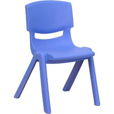 "12"" Plastic Stackable Classroom Chair"