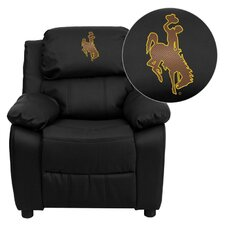 NCAA Embroidered Kid's Recliner