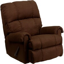 Contemporary Flatsuede Microfiber Rocker Recliner