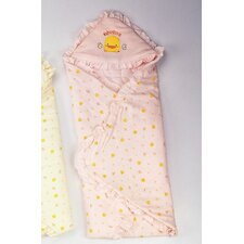 Anti Dust Mite Winter Receiving Blanket in Pink