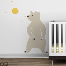 Baby Zoo Bear and Hive Wall Decal