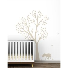 Monochromatic Fawn Tree Wall Decal